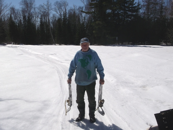 Walking Carefully...snowshoes in hand