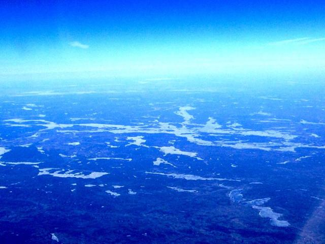 Lake Temagami 25,000 ft - April 28