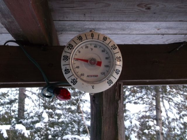 It's -30 C on Jan 22, 2013