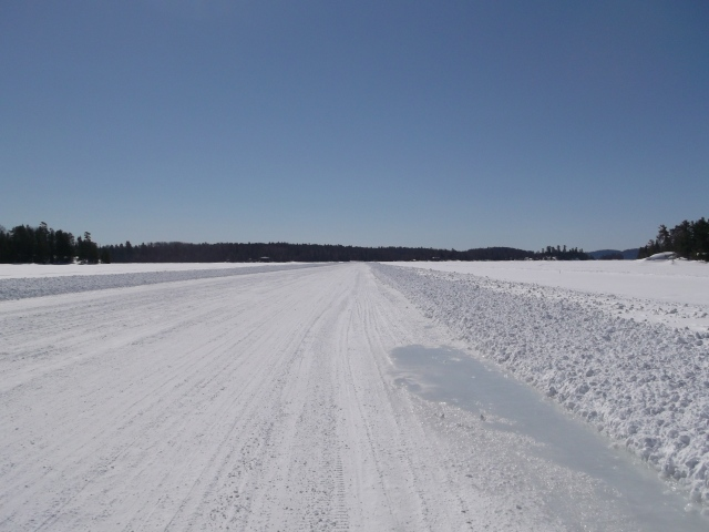 ice road in early April 3, 2014